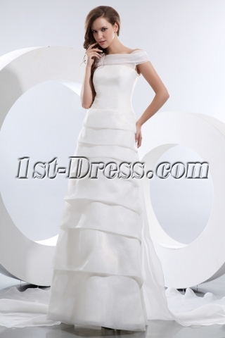 Gorgeous Off Shoulder Wedding Dress Mature Brides