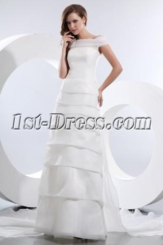 Gorgeous Off Shoulder Wedding Dress Mature Brides