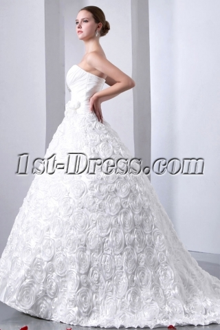 Graceful Sweetheart 3D Floral Wedding Dresses 2014