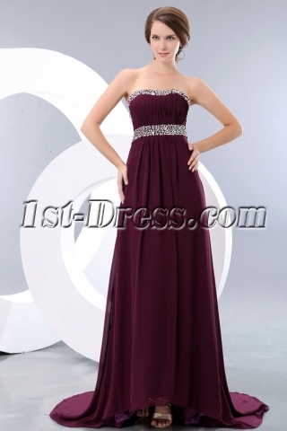 Grape Beaded New Style Celebrity Red Carpet Dresses