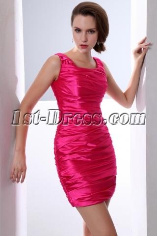 Hot Pink Mini Length Club Dresses for Juniors under 100