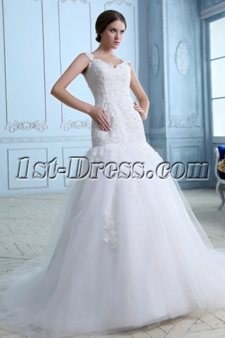 Pretty Lace Princess Mermaid Bridal Gowns