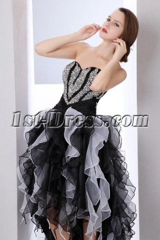 Pretty Multi-color Strapless High-low Ruffle Sweet 15 Dresses
