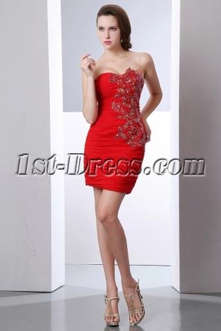 Red Cute Junior Club Mini Dresses