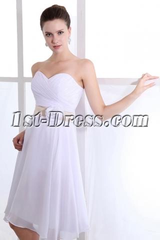 Romantic Sweetheart Knee Length Chiffon Flower Bridesmaid Gowns
