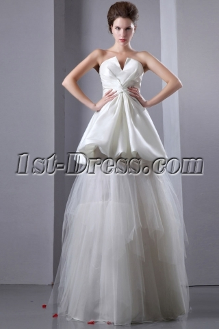 Special Informal Wedding Gowns with Pick up Skirt