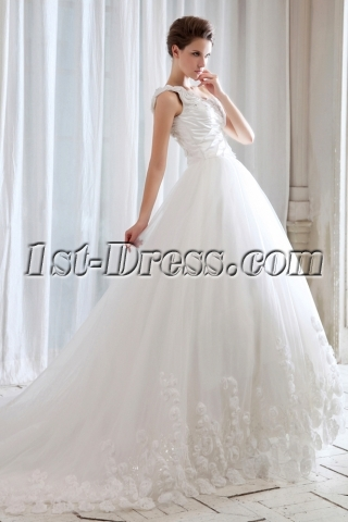 Stunning One Shoulder Celebrity Wedding Dresses for Sale