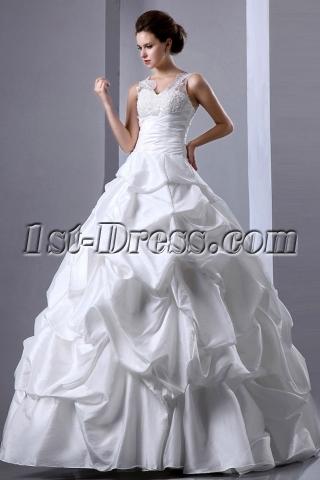 Sweet 2014 Pick-up Lace V-neckline 2014 Quinceanera Dresses