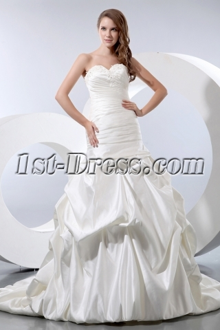 Sweet Sheath Fishtail Bridal Gown 2013 with Lace up