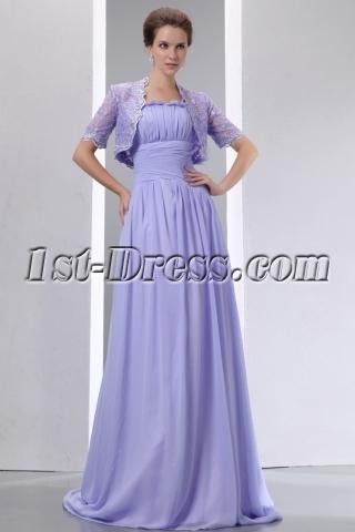 Vintage Straps Lavender Mother of Bride Dress with Lace Jacket