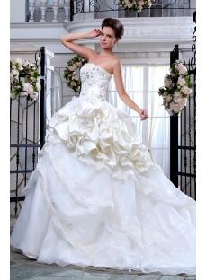 Appliques Beaded Elegant Wedding Dresses with Long Trains