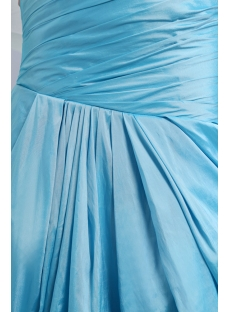 Aqua Blue Taffeta One Shoulder Sheath Prom Dresses