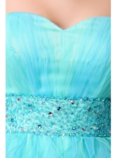 Aqua Sweetheart Neckline High-low Cocktail Dress with Train