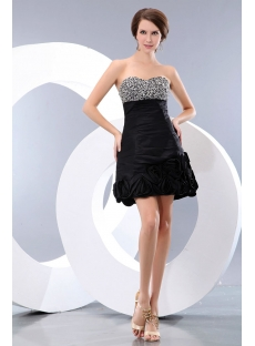 Beaded Sweetheart Taffeta Little Black Party Dress juniors