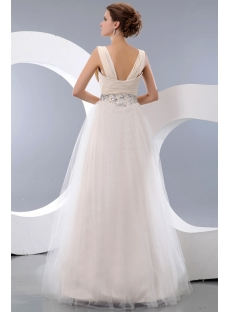 Beautiful Champagne Straps Fifteenth Birthday Ball Gown