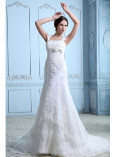 Beautiful Straps Sheath Wedding Dresses 2014 Spring