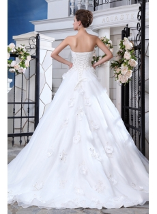 Beautiful Sweetheart Organza A-line Bridal Gown