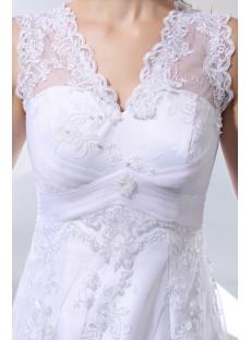 Beautiful Vintage Lace Empire Plus Size Wedding Dresses1st Dress