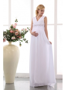 images/201401/small/Best-White-Chiffon-V-neckline-Long-Pregnant-Bridal-Gowns-4244-s-1-1390323067.jpg
