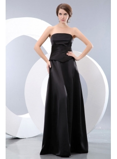 Black Mock Two Piece Formal Evening Dresses