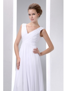 Casual Floor Length V-neckline Plus Size Bridal Gowns