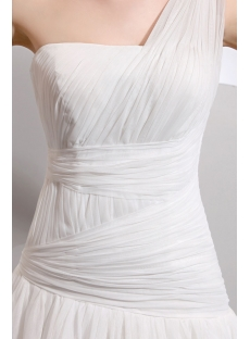 Charming Floor Length One Shoulder Drop Waist Casual Wedding Dresses