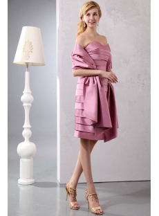 Charming Knee Length Short Mother of Brides Dress with Shawl