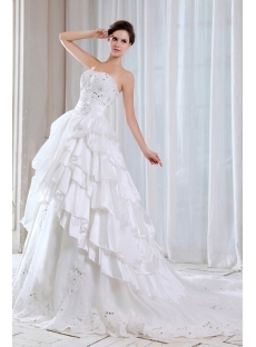 Charming Strapless Mexican Ball Gown Wedding Dress