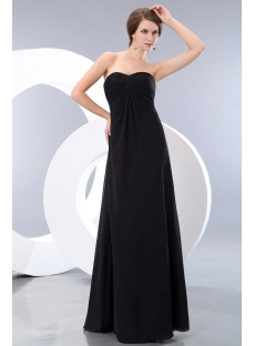 Charming Sweetheart Long Chiffon Maternity Prom Gown Dress