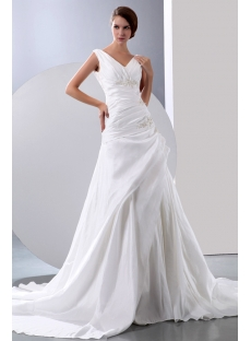 Charming V-neckline Wedding Dresses for the Older Bride