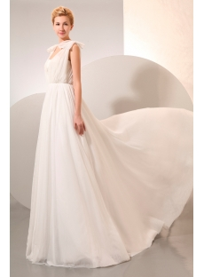 Cheap Beach Wedding Dresses Chiffon for Second Wedding