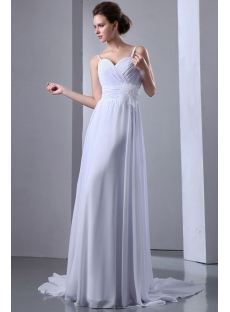 Cheap Ivory Straps Simple Feather Plus Size Wedding Dresses