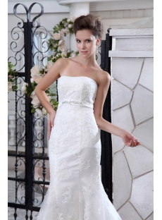 Classical Sheath Lace Celebrity Wedding Dresses