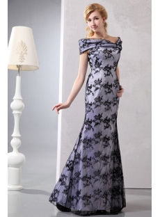 Elegant Black Long Lace Off Shoulder Mother of Groom Dresses
