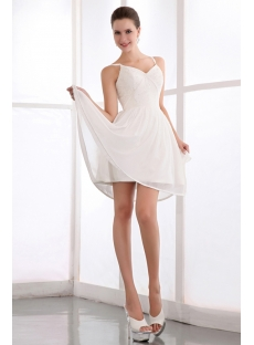 Elegant Ivory Chiffon Short Homecoming Dresses with Straps