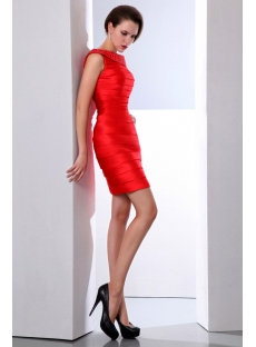 Elegant Red Bandage Cocktail Dress