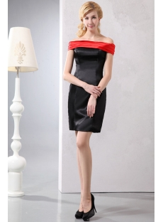 Elegant Red Off Shoulder Little Black Dress under 100