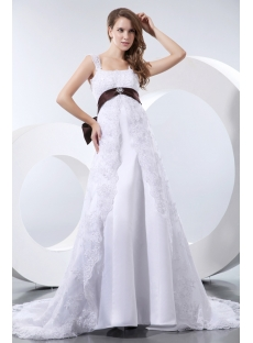 Elegant Straps Lace Maternity Wedding Dresses Los Angeles