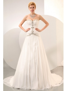 Exquisite Sweetheart Drop Waist Bridal Gowns 2014