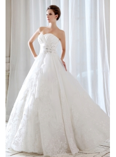 Floor Length Long Destination Wedding Dresses 2013