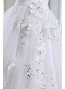 Flower One Shoulder Garden Wedding Gown 2013