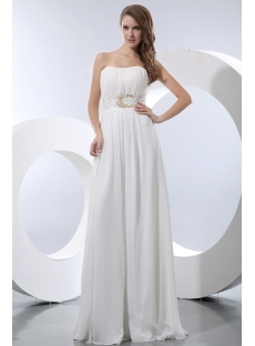 Flowing Long Chiffon Bridal Gown for Large Size
