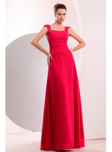 Formal Fuchsia Tank Straps Long Chiffon Evening Dress