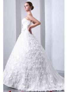 Graceful Sweetheart 3D Floral Wedding Dresses 2014