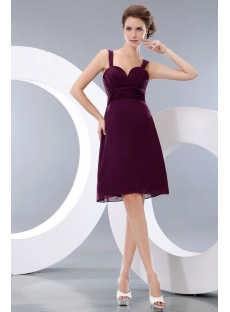 Grape Straps Sweetheart Mini Short Party Dress