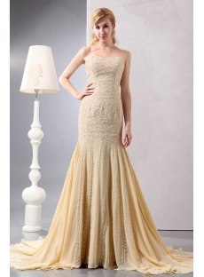 Heavy Beaded Sweetheart Champagne Sheath Engagement Dresses