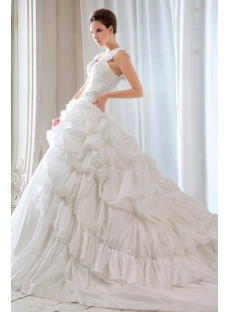 Ivory 2014 Gothic Ball Gown Bridal Gowns with Straps