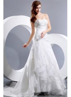 Latest Beautiful Wedding Dress with Drop Waist