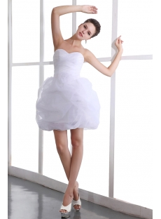 Lovely Sweetheart Mini Organza Pick up Junior Prom Party Dress