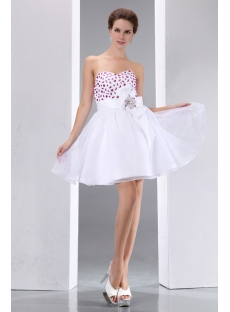 Lovely Sweetheart Organza Mini Party Cocktail Gown